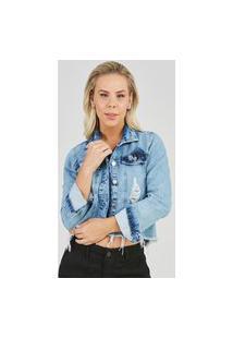 Jaqueta Jeans Express Andy Lauper Azul