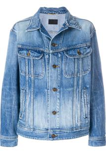 Saint Laurent Jaqueta Jeans Oversized - Azul