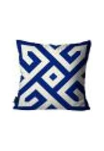 Capa Para Almofada Premium Peluciada Mdecore Azulejo Português Azul 45X45Cm