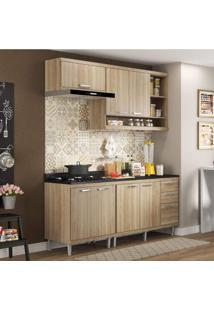 Cozinha Completa Com Balcão Com Tampo 5 Peças 7 Portas Sicília Multimóveis Argila