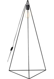 Luminaria De Chao Seixo Estrutura Em Ferro Redondo Cor Preto 0,98 Cm (Alt) - 54097 - Sun House