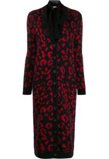 Red Valentino Cardigan Jacquard Red(V) Leo Rock - Preto