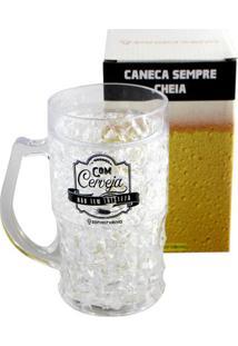 Caneca Gelo Com Cerveja Não Tem Tristeza - Zona Criativa