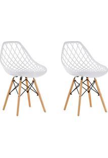 Conjunto Com 2 Cadeiras De Jantar Siberian Eiffel Branco