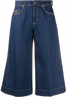 Versace Jeans Couture Calça Jeans Pantacourt - Azul