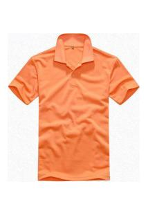 Camisa Polo Basic Solid Clássica - Laranja