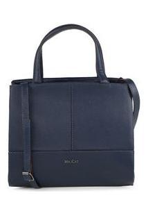 Bolsa Shoulder Bag Couro Recortes Marinho - Marinho/Un