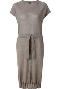 Lorena Antoniazzi Vestido De Tricô Com Aplicação De Paetês - Verde