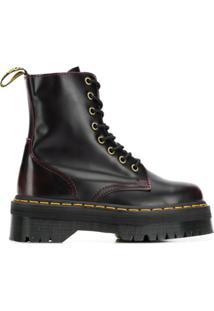 Dr. Martens Ankle Boot Com Amarração - Vermelho