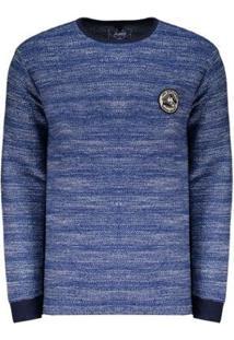 Camiseta Manga Longa Hd Especial Masculina - Masculino-Azul