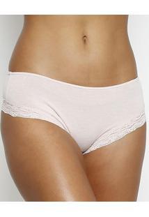 Calcinha Boneca Em Modal Com Lycra®- Rosa Clarosloggi