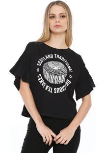 Camiseta Lez A Lez Scotland Tradicional Preta