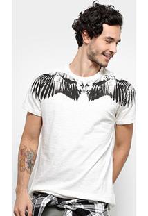 Camiseta Bulldog Fish Wings Masculina - Masculino-Off White