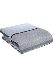 Kit De Colcha Altenburg Casal Com Porta Travesseiro Azul