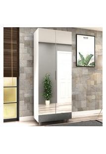 Armário Multiuso C/ Espelho Flora Bosi 2 Portas Branco