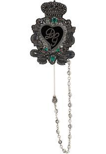 Dolce & Gabbana Broche Sagrado Coração - Preto