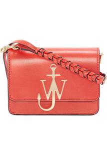 Jw Anderson Anchor Logo Plaque Crossbody - Vermelho