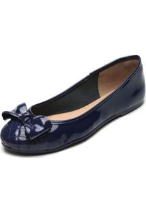 Sapatilha Petite Jolie Laço Azul-Marinho