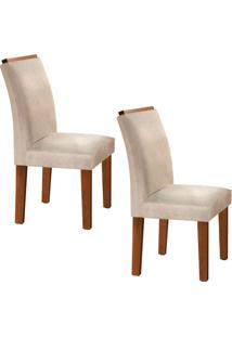 Conjunto Com 2 Cadeiras Sevilha Chocolate E Cru