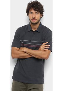 Camisa Polo Hang Loose Ocean Masculina - Masculino-Grafite