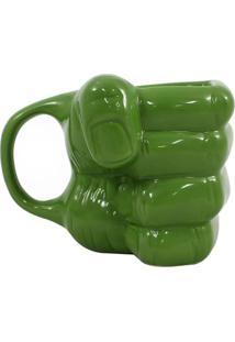Caneca Formato Mao Hulk Geek10 Verde