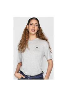 Camiseta Lacoste Logo Cinza