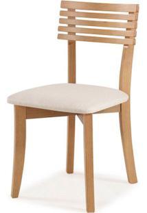 Cadeira Petani Encosto Ripado Assento Estofado Branco 90Cm - 59613 - Sun House