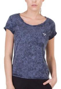 Camiseta Slim Brohood Feminina - Feminino-Azul