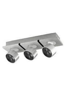 Spot Sobrepor Otic 3Xled 3X1W - Alumínio Escovado/Preto - Bella