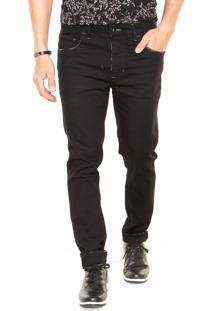 Calça Jeans Triton Skinny Cropped Bolsos Preta