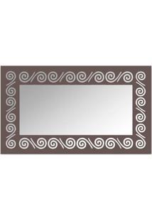 Espelho De Parede 12878I Marrom 70X110 Art Shop