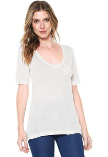 Camiseta Calvin Klein Bordado Branca