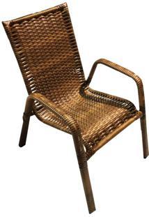Cadeira De Varanda Avulsa Love Caramelo Wj Móveis