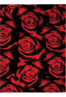 Tapete Veludo Marbella Boreal Rosas Red 148X200