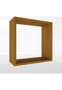 Nicho Quadrado Amadeirado Timber - Branco - Dafiti