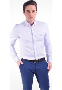 Camisa Horus Social Slim - Masculino-Azul