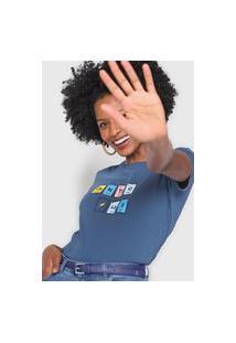 Camiseta Cantão Tabela Periódica Azul-Marinho