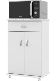 Armário De Cozinha Para Micro-Ondas 2 Portas 1 Gaveta 01300 Branco - Ej Móveis
