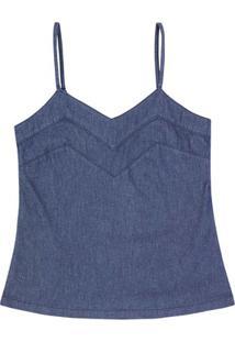 Regata Jeans Feminina Com Alça Com Regulador