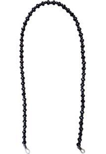 Corrente Bag Dreams Para Óculos Em Missangas Acrílicas Preta