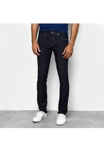 Calça Jeans Slim Lacoste Lavagem Escura Masculina - Masculino