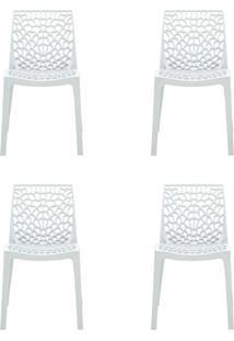 Conjunto De 4 Cadeiras Gruv Branca