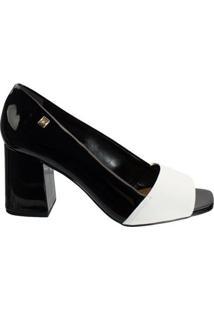 Sapato Peep Toe Loucos E Santos Snake L21120016 A02 - Feminino-Preto
