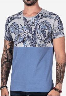 Camiseta Meio A Meio Folhas 102345