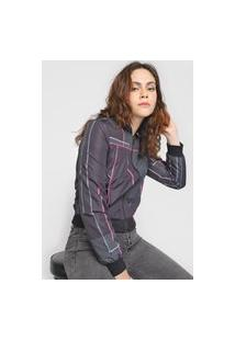 Jaqueta Bomber Calvin Klein Jeans Geométrica Grafite