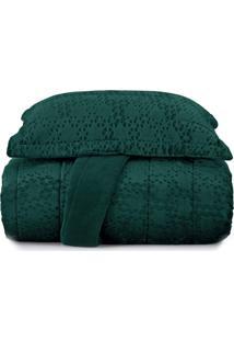 Jogo De Colcha King Blend Elegance Vogue Prisma - Verde Verde
