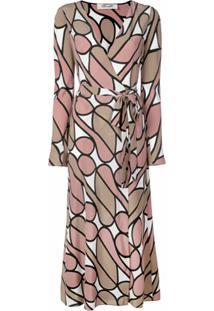 Dvf Diane Von Furstenberg Vestido Envelope Estampado