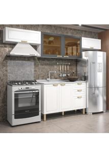Cozinha Completa 4 Peã§As Americana Multimã³Veis 5693 Branco/Grafite - Branco/Incolor - Dafiti