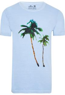 T-Shirt Masculina Stone Vintage Waterpalms - Azul