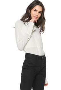 Camisa Maria Filó Reta Lisa Off-White